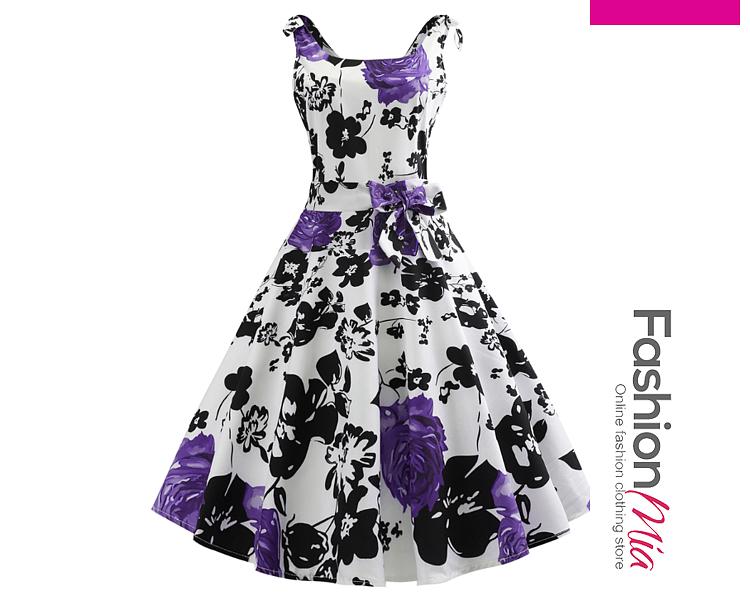 Bowknot  Floral Dresses