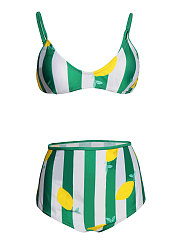 Brocade Lemon Shape Women Bikini