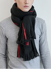 New Warm Elegant Knitted Long Thick Striped Scarf