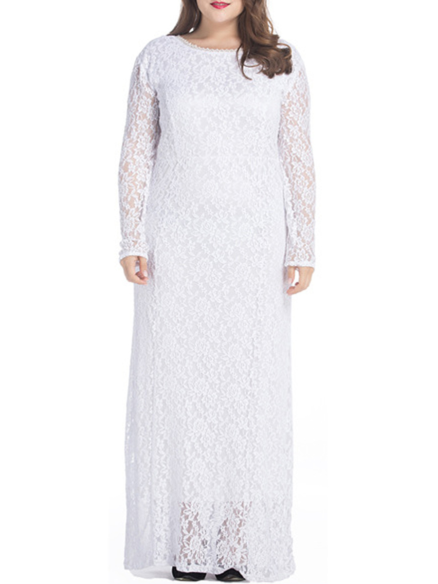 Fashionmia Plus Size White Evening Dresses Fashionmia