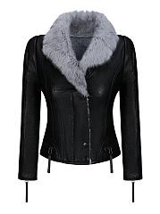 Fleece-Lined-Faux-Fur-Collar-Zips-Color-Block-Biker-Jacket