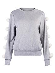 Cute-Fur-Ball-Round-Neck-Sweatshirts