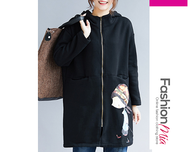 gender:women, hooded:yes, thickness:regular, brand_name:fashionmia, outerwear_type:coat, style:fashion,japan & korear, material:cotton blend, collar&neckline:hooded, sleeve:long sleeve, embellishment:zips, pattern_type:cartoon, how_to_wash:machine wash, supplementary_matters:all dimensions are measured manually with a deviation of 2 to 4cm., occasion:basic,club,street snap,vacation, season:autumn,winter, package_included:top*1, lengthshouldersleeve lengthbust
