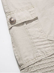 Flap Pocket Plain Men's Casual Pants