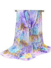 Peony Printed Floral Scarf