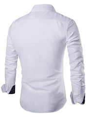 Turn Down Collar Plain Men Shirts