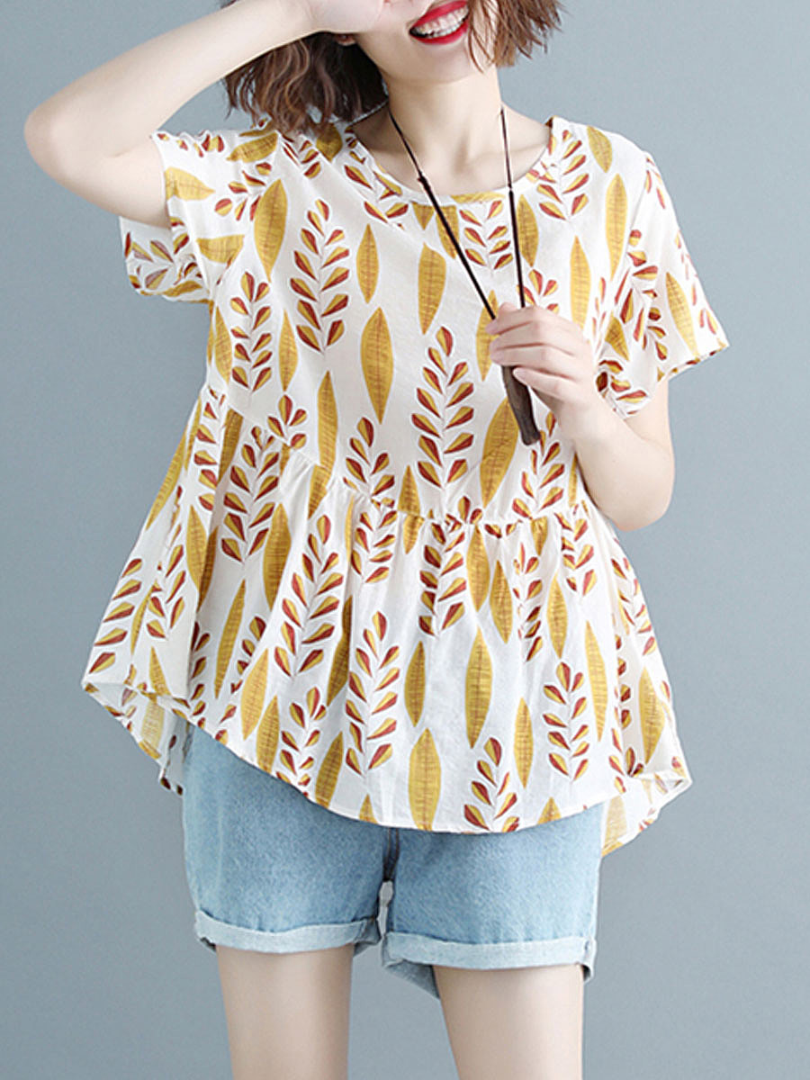 https://www.fashionmia.com/Products/summer-cotton-women-round-neck-asymmetric-hem-floral-printed-blouses-218255.html