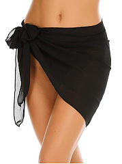 Women Short Sarong Wrap Chiffon Beach Cover Up Swimsuit Wrap