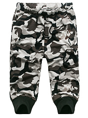 Camouflage-Slim-Leg-Mens-Casual-Midi-Pants