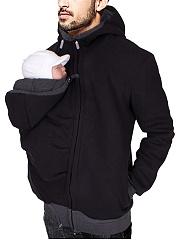Men-Multifunctional-Baby-Carrier-Plain-Hoodie