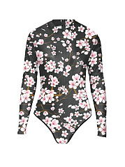 Crew Neck  Floral One Piece