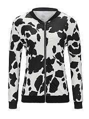 Collarless-Zips-Printed-Long-Sleeve-Jackets