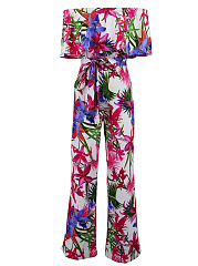 Off-Shoulder-Flounce-Floral-Printed-Wide-Leg-Jumpsuit