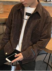 Lapel-Flap-Pocket-Single-Breasted-Letters-Men-Coat