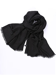 Women Solid Color Cotton Scarf Soft Long Warm Wrap Shawl Scarves Stole