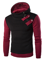 Modern Color Block Men Hoodie