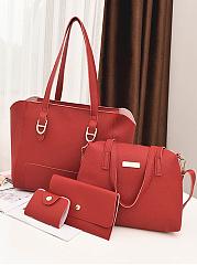 Stylish-Leisure-Simple-Women-Bag-Set-(4-Pieces)