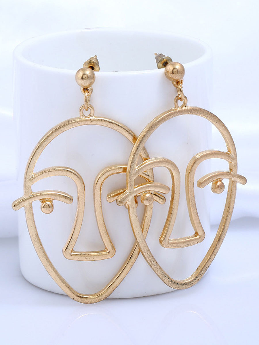 Metal Geotric Earring