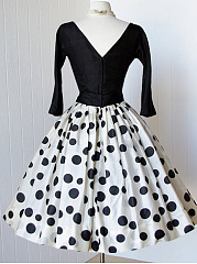 Patchwork  Polka Dot Skater Dress
