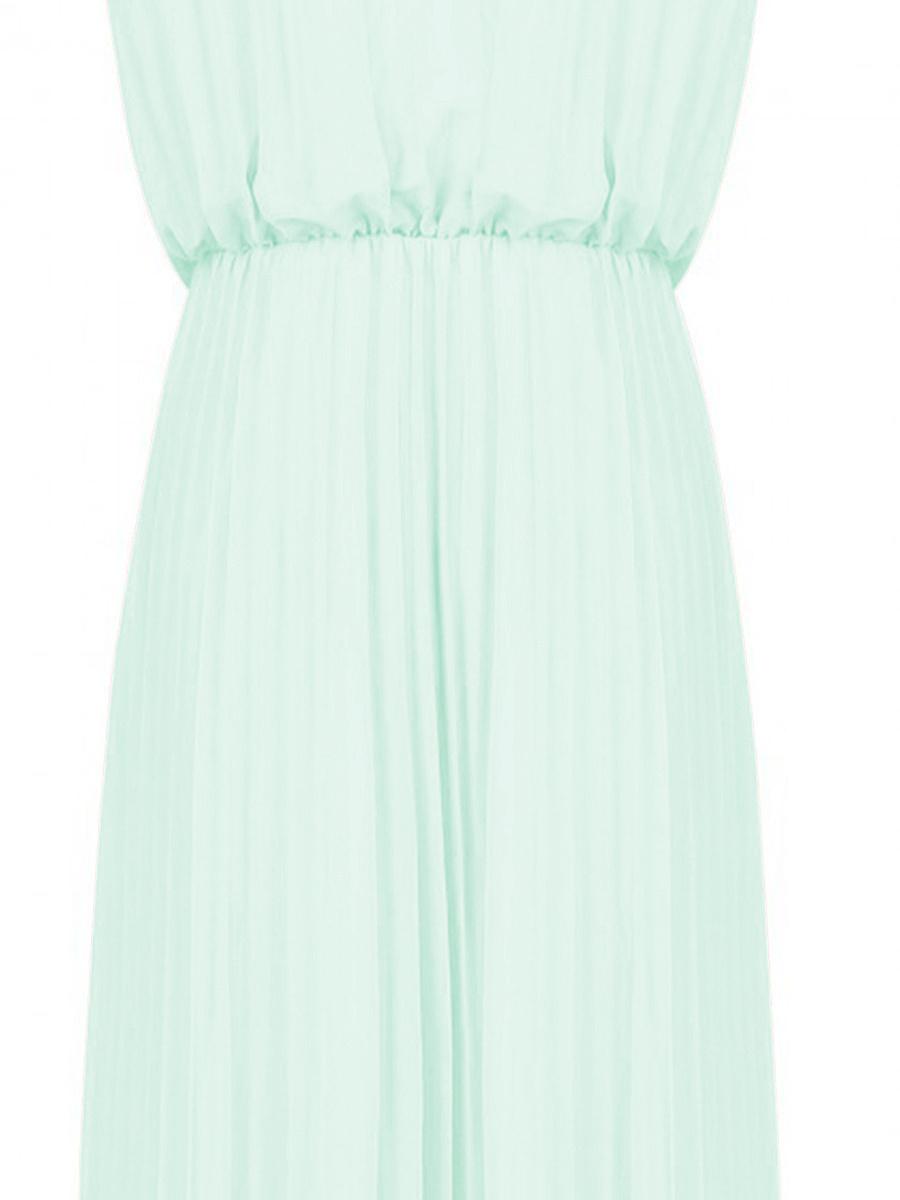 Halter  Plain Maxi Dress
