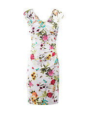 Sweet Heart Floral Printed Bodycon Dress