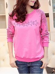 Round-Neck-Printed-Star-Sweatshirt