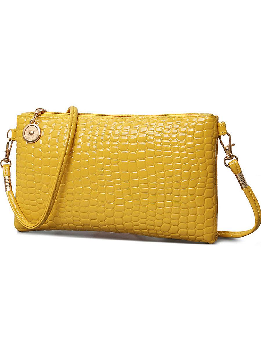 Crocodile Pattern Pu Crossbody Bag