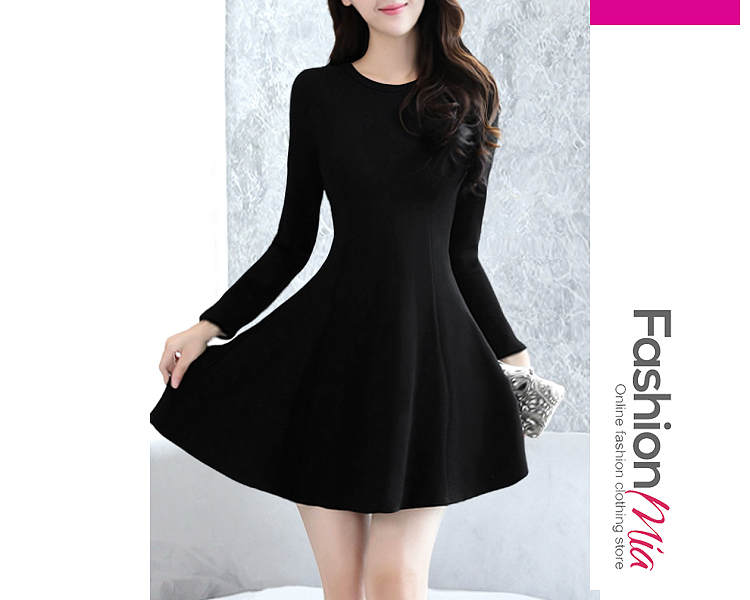 thickness:regular, brand_name:fashionmia, style:elegant,fashion, material:polyester, collar&neckline:round neck, sleeve:long sleeve, pattern_type:plain, length:mini, how_to_wash:cold gentle machine wash, supplementary_matters:all dimensions are measured manually with a deviation of 2 to 4cm., occasion:basic,daily,date,nightout,party,vacation, dress_silhouette:flared, package_included:dress*1, lengthbust