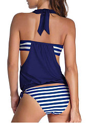 Halter Striped Sexy Bikini For Women