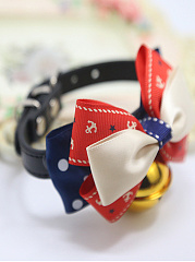 Fashion Bowknot Dog Bell Collar