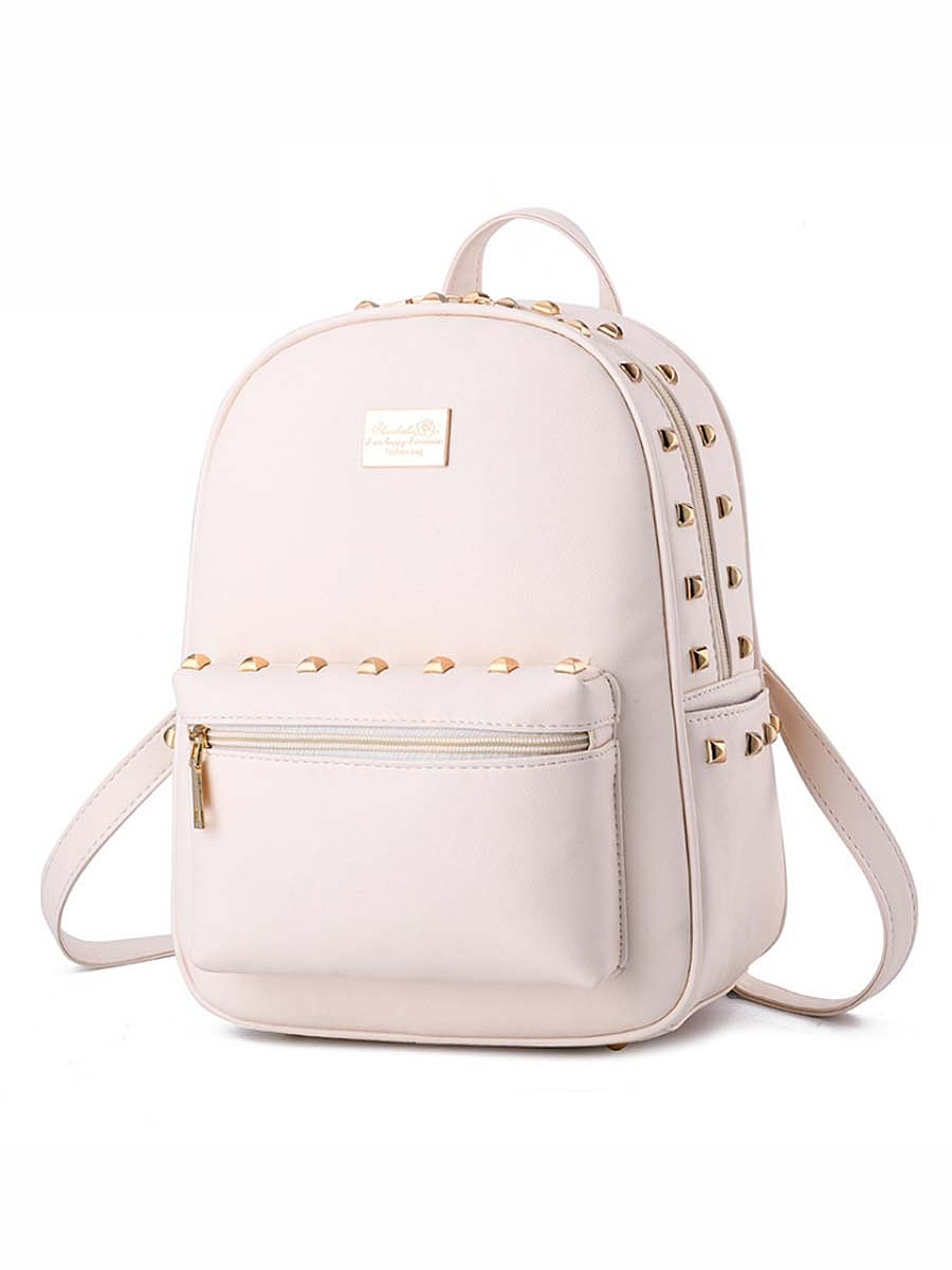 Gold Rivet Chic Pu Backpack