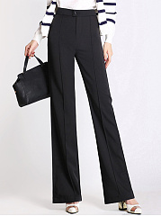Office-Plain-High-Rise-Wide-Leg-Pants