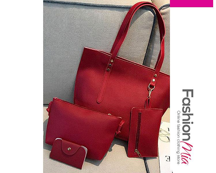 Four Pieces Plain Shoulder Bags