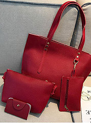 Four Pieces Plain Shoulder Bags