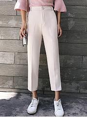 Plain-Wide-Leg-Mid-Rise-Casual-Pant