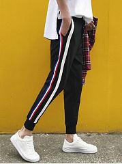 Mens-Striped-Casual-Jogger-Pants