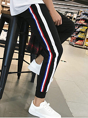 Men's Striped Casual Jogger Pants