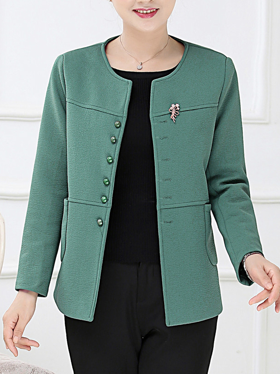 Plain Patch Pocket Single Breasted Blazer