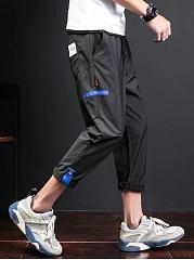 Mens-Pocket-Slim-Leg-Casual-Cropped-Pants
