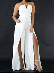Hot-Europe-Style-Sexy-Cutout-Plain-Wide-Leg-High-Rise-Jumpsuits
