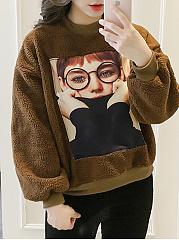 Crew-Neck-Decorative-Patch-Printed-Long-Sleeve-Sweatshirts