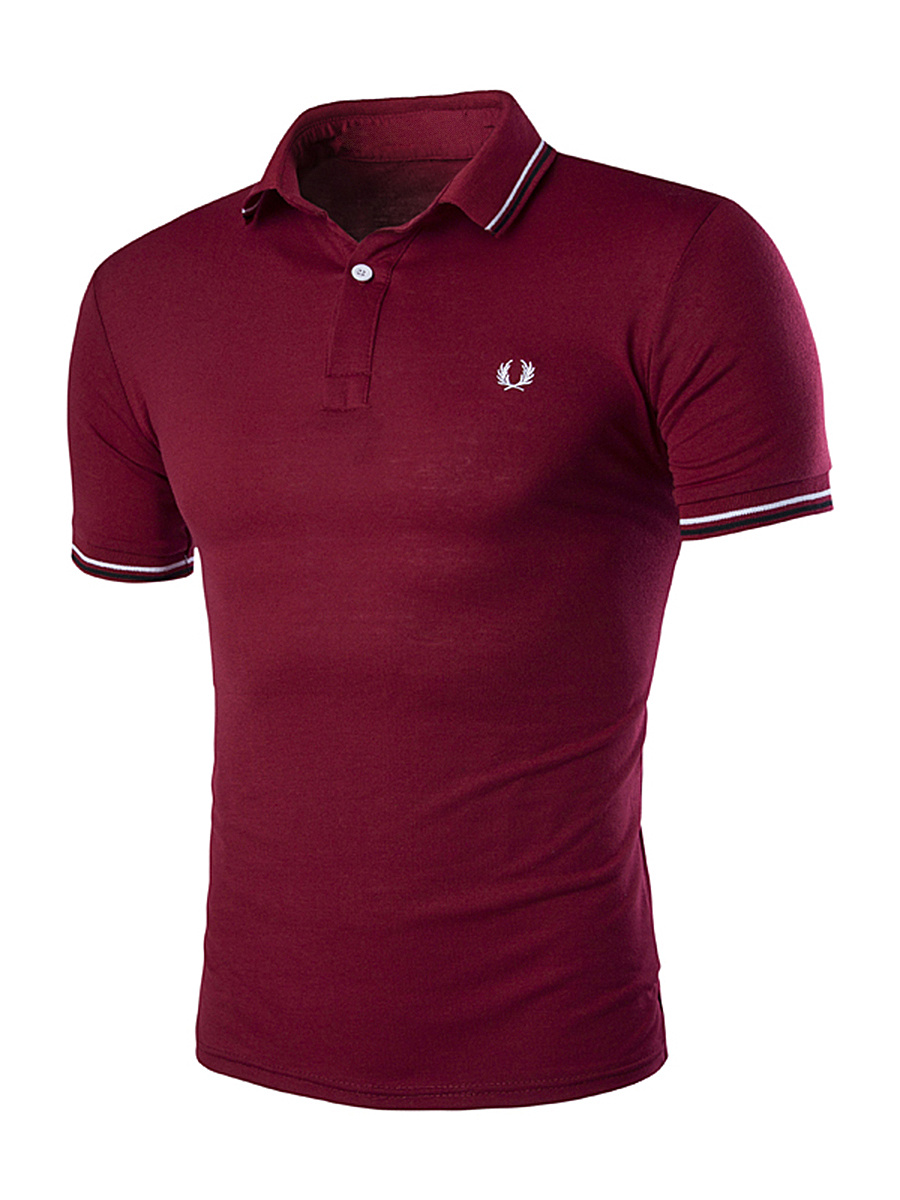 Basic Polo Collar Striped T-Shirt