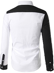 Contrast Piping  Color Block  Long Sleeve Long Sleeves