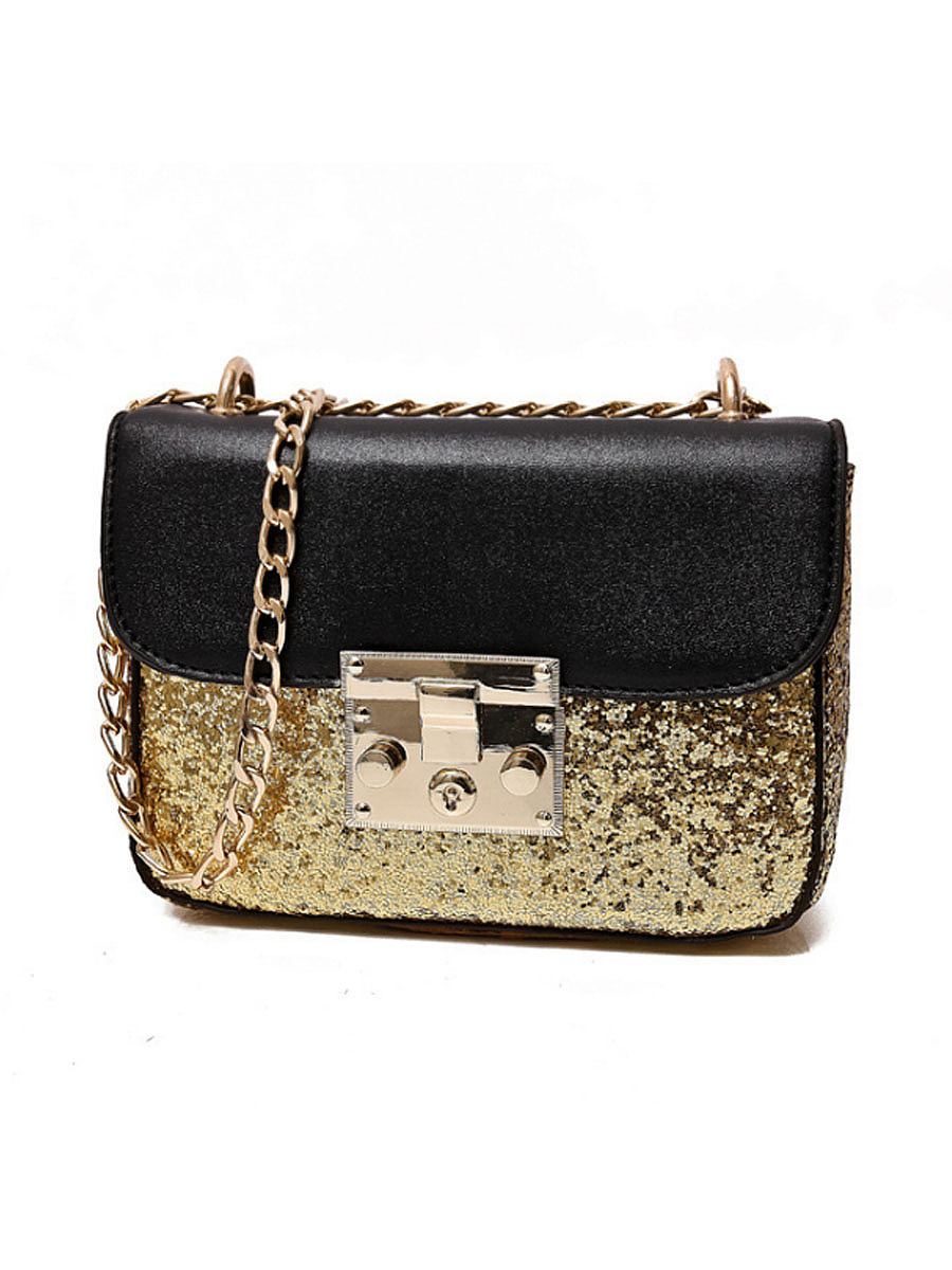 Glitter High Quality PU Leather Messenger Crossbody Bag
