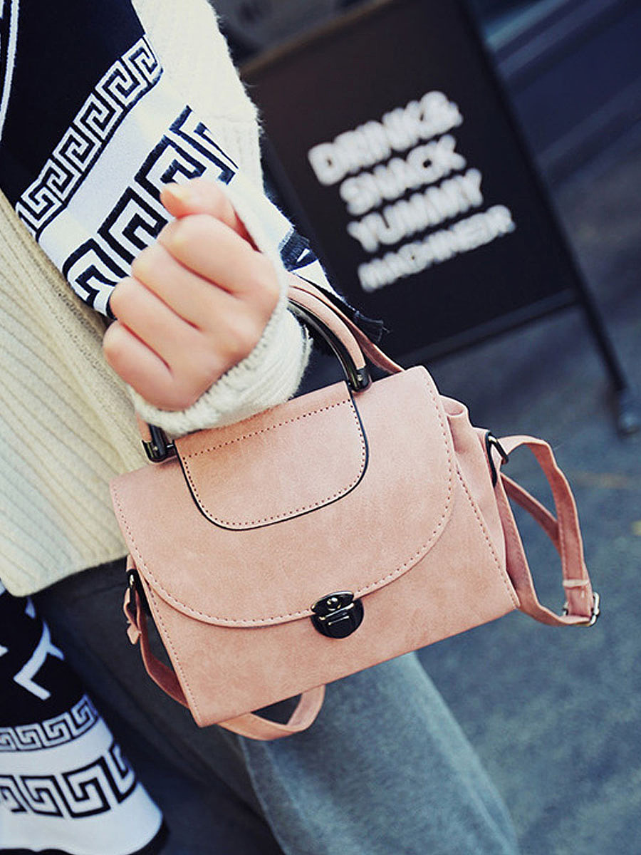 Vintage PU Leather Crosssbody Bag