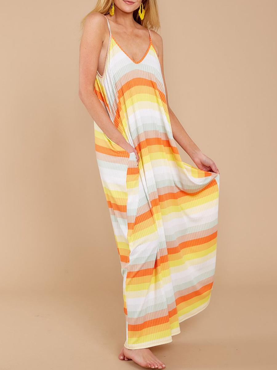 Spaghetti Strap  Gradient Maxi Dress