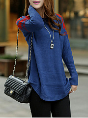Round Neck  Print Knit Pullover