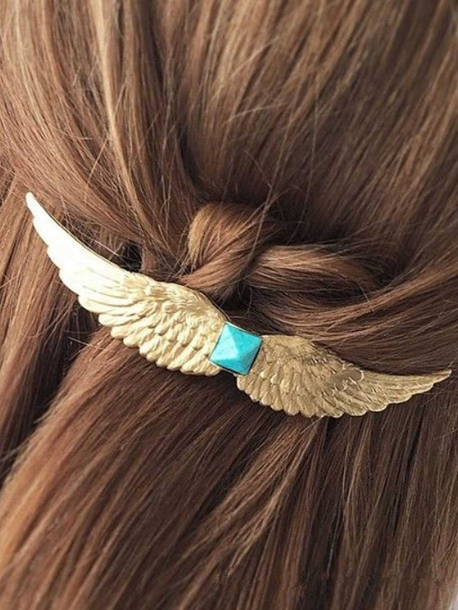 Silver Wing Shape Hair Clip