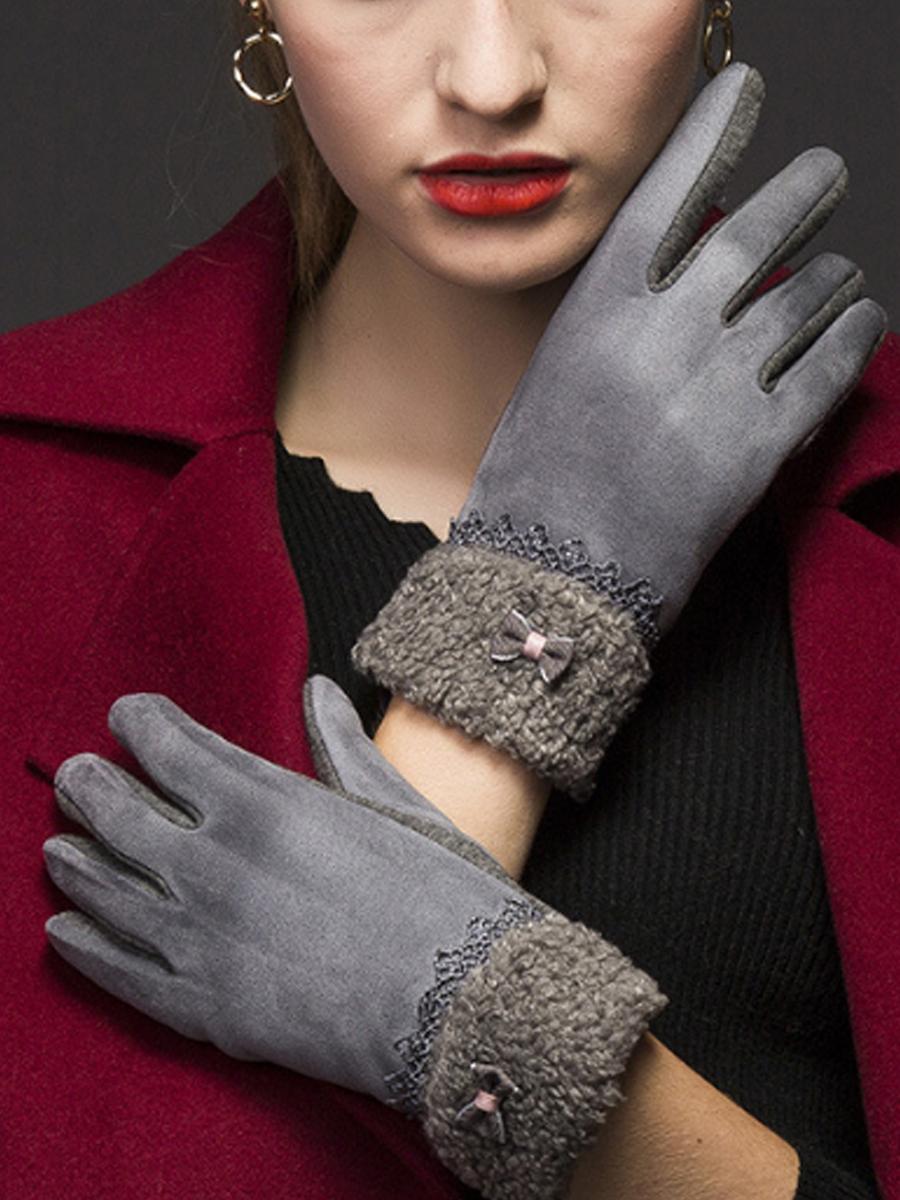 Fleece Warm Winter Leather Gloves