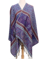Nepal Ethnic Scarf Patchwork Shawls Gradient Scarves Thickening Warm Long Watkins Nap Scarf